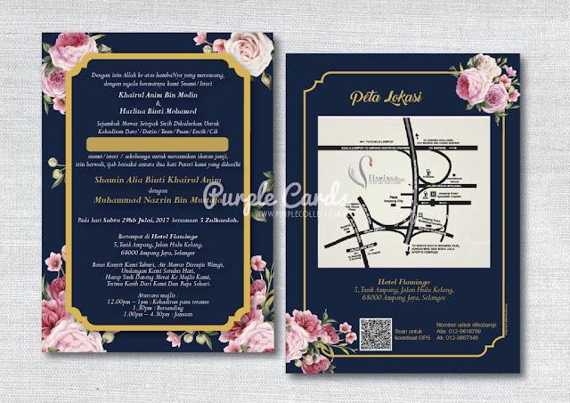 kad kahwin, online, murah, english rose, elegant, cetak, express, designer, modern