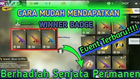 cara mendapatkan winner badge ff