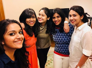 Keerthy Suresh in GK Vishnu Birthday Party Celebrations
