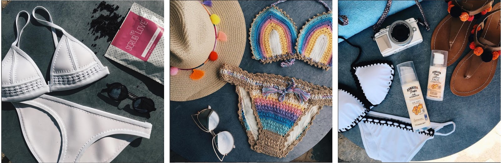 instagram flatlays bikini summer holiday peexo