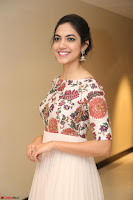 Ritu Varma smiling face Cream Anarkali dress at launch of OPPO New Selfie Camera F3 ~  Exclusive 100.JPG