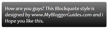 Blogger Blockquote Style 25
