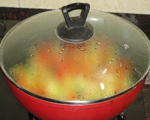cooking in a pan