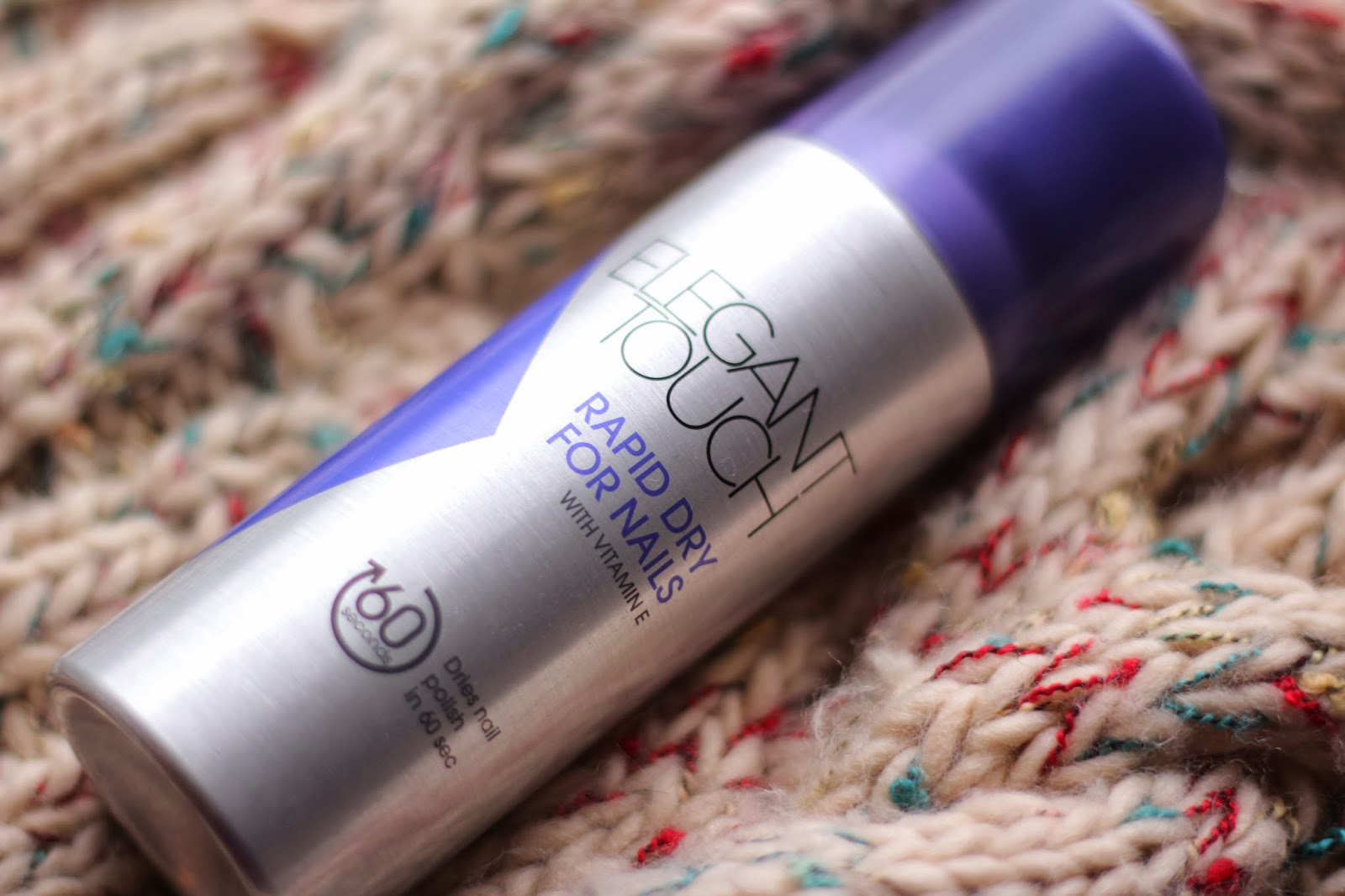 Knickers Nail Polish Review Elegant Touch Rapid Dry Spray