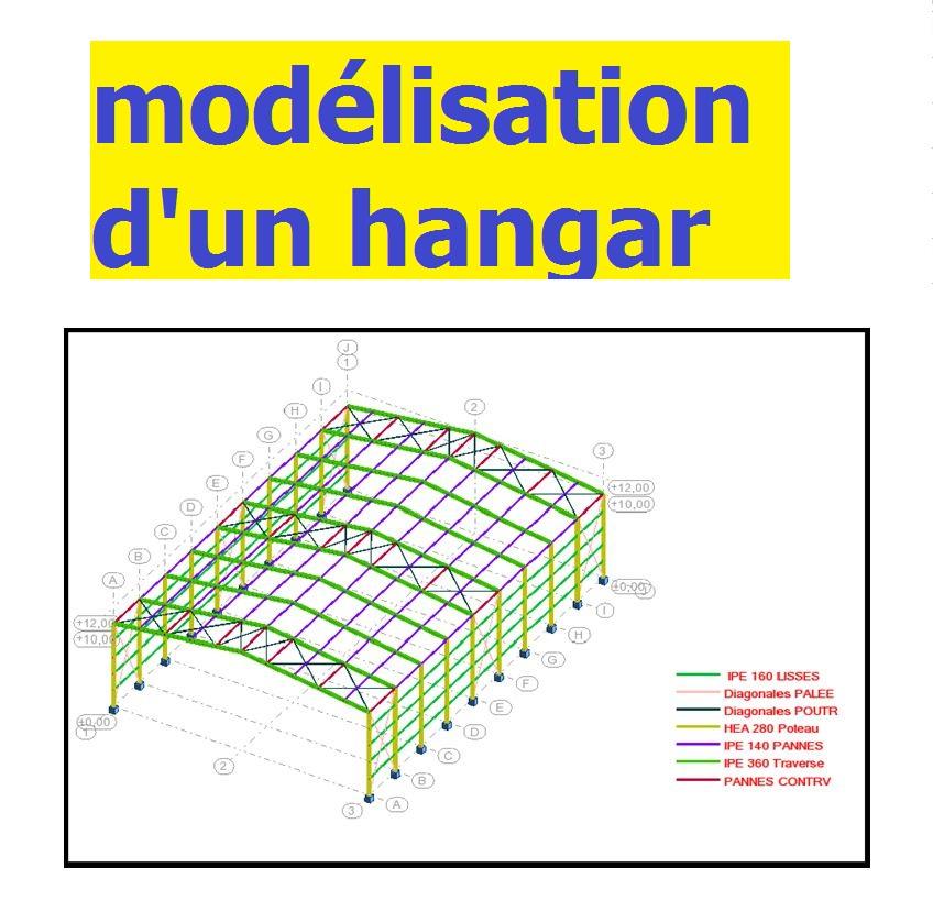 Projet de construction m tallique calcul et mod lisation - Calcul d un hangar en charpente metallique ...
