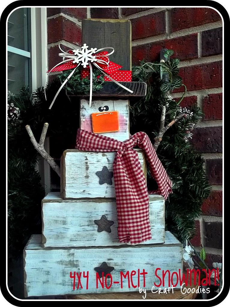 craft goodies 4x4 no melt snowman. Black Bedroom Furniture Sets. Home Design Ideas