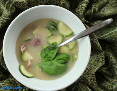 Carole's Chatter: Bacon & Courgette Soup