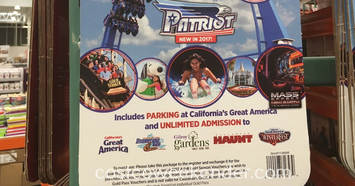 Great America 2017 Adult Gold Season Pass Costco Weekender