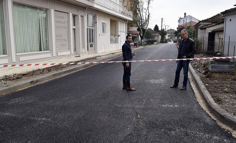 Ολοκληρώθηκε η διάνοιξη και η ασφαλτόστρωση της οδού Σκυλοσόφου στην Καρδίτσα