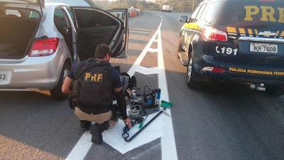 PRF prende dois suspeitos de roubo a caixa eletrônico na Régis Bittencourt