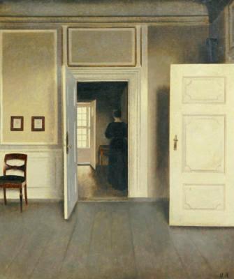 Les toiles d 39 artlubie les atmospheres de vilhelm hammershoi for Interieur artistique