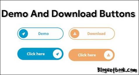 best blogger demo and downlaod button