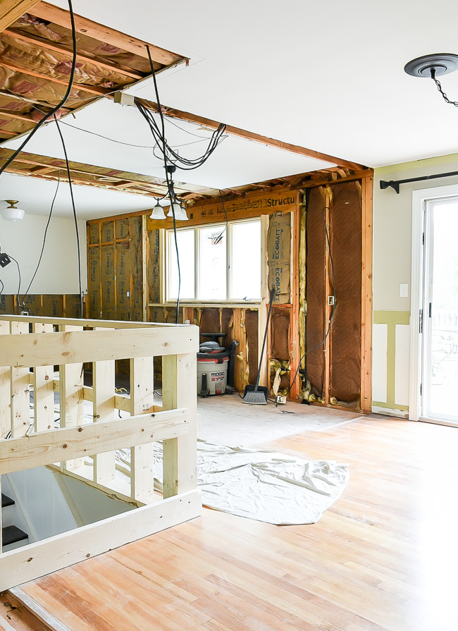 Kitchen and dining room wall demo