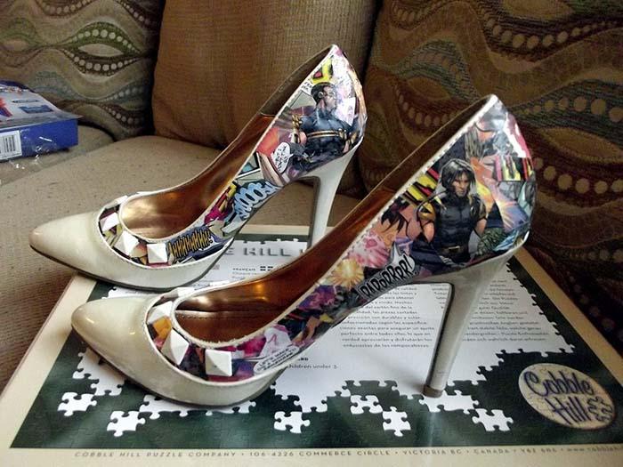 kendin yap süper kahraman baskılı ayakkabı