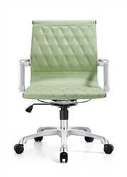 Annie Sea Foam Leather Office Chair