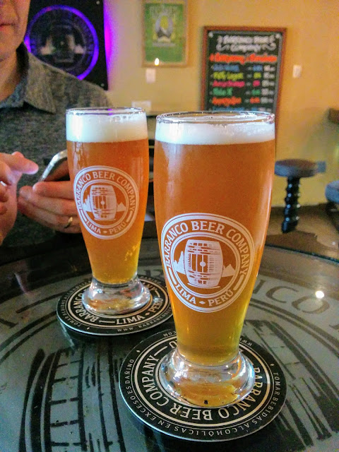 Pint of Fifti Lager at Barranco Beer Company craft beer bar in Lima Peru