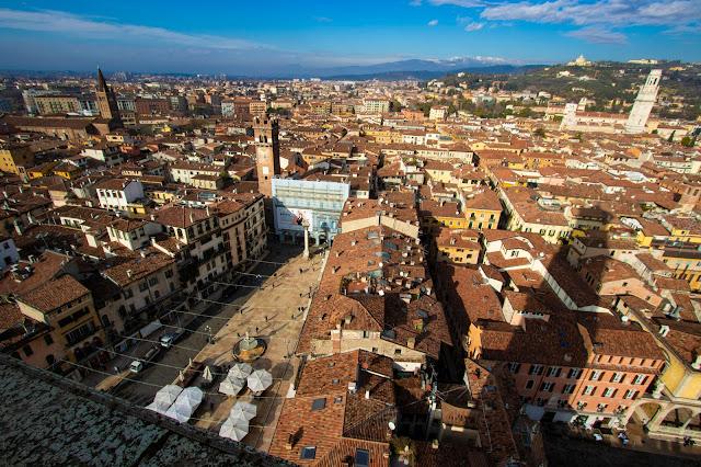 Panorama dalla torre dei Lamberti-Verona