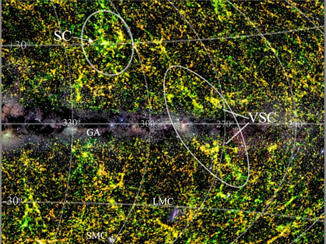 Astronomers discover major supercluster of galaxies hidden by Milky Way