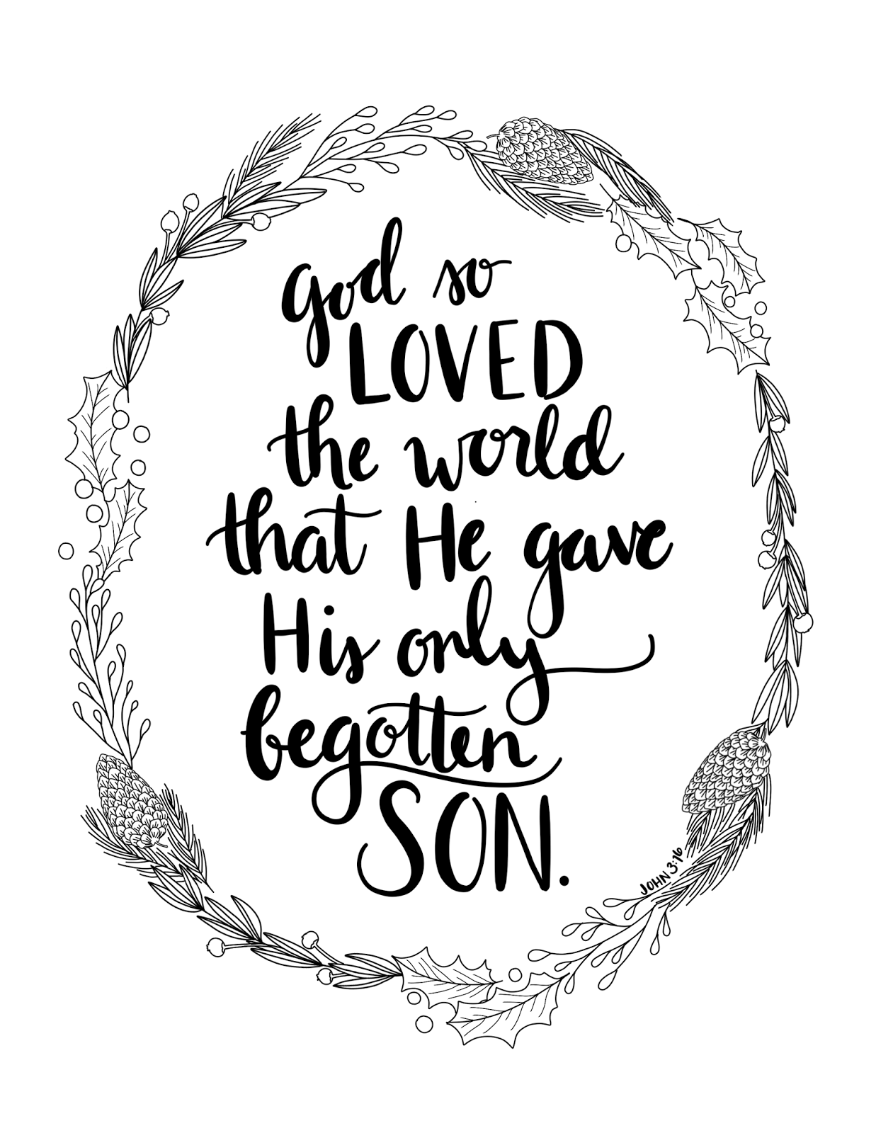 Just what i squeeze in god so loved the world for For god so loved the world coloring page