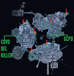 Batman Arkham Knight, Perfect Crime, Corpse Location Map, Bleake Island, Miagani Island, Founders Island
