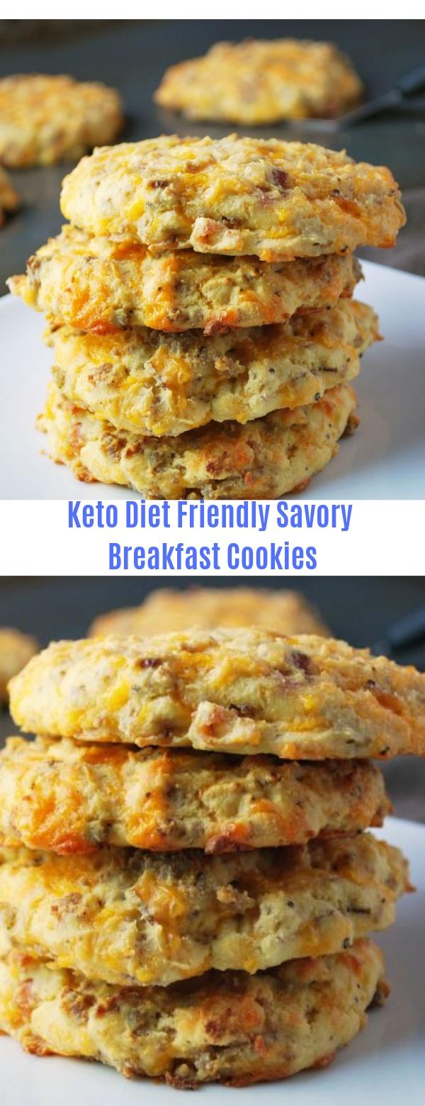 Keto Diet Friendly Savory Breakfast Cookies