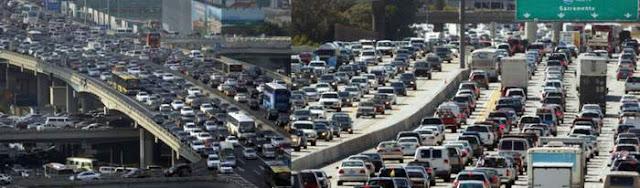 Заторы на многополосных магистралях в США