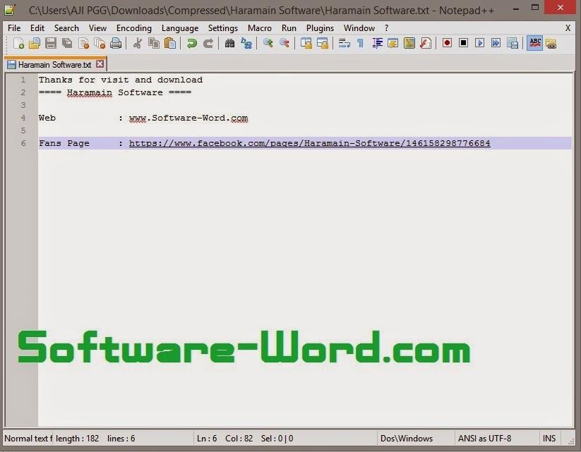 Notepad++ - Haramain Software