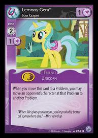 My Little Pony Lemony Gem, Sour Grapes Premiere CCG Card