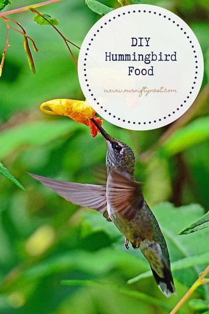 DIY hummingbird food pin