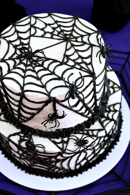 Black Velvet Spider Cake from LoveandConfections.com