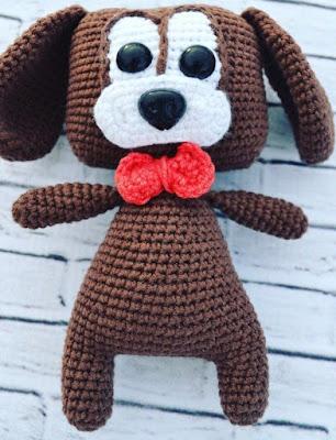 Вязаный щенок игрушка амигуруми