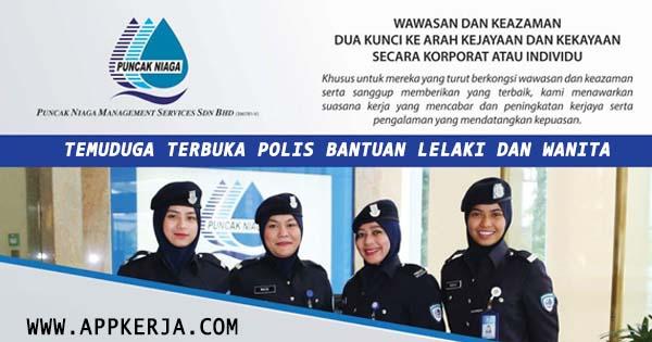 Temuduga Terbuka Sebagai Polis Bantuan Lelaki dan wanita
