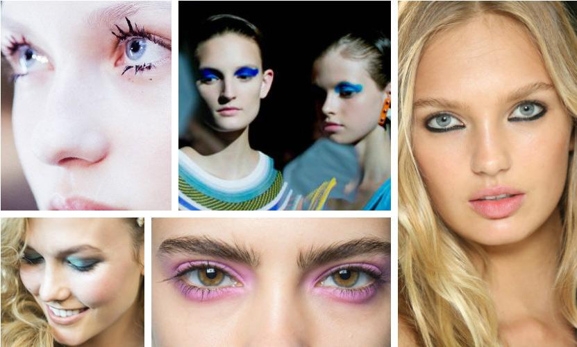 Четыре главных весенних тренда в макияже. В центре внимания-яркий цветовой акцент картинки