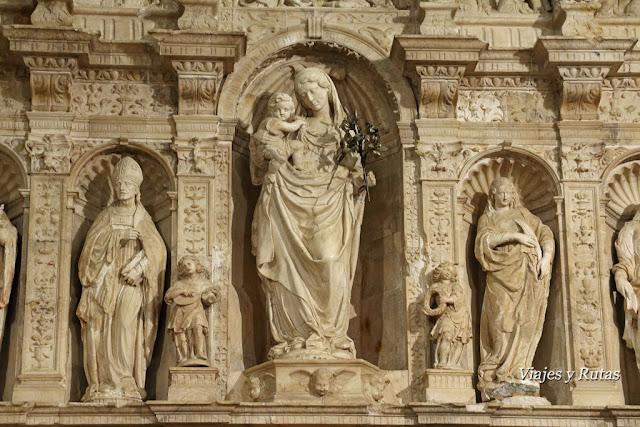 Detalle del retablo de la iglesia del Monasterio de Santa María de Poblet, Tarragona
