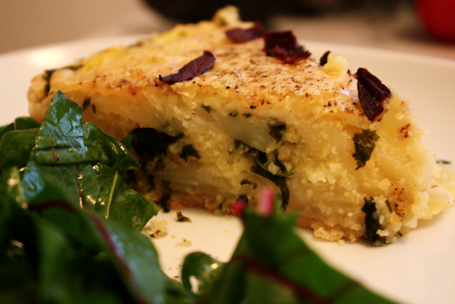 Good, old potato-kale pie