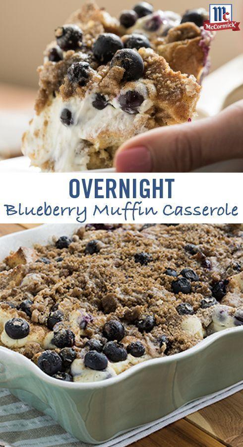 OVERNIGHT LEMON BLUEBERRY MUFFIN CASSEROLE