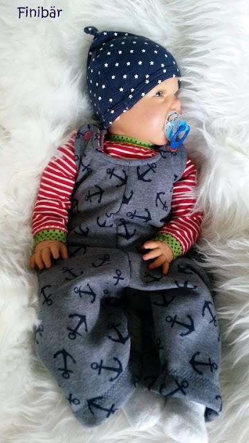 Retrospielhose: Einteiler für babys nähen
