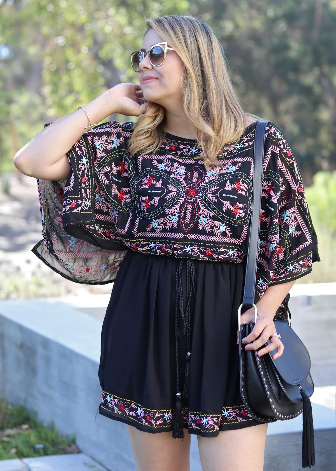 fun colorful dress 2016, chicwish colorful dress, outfit of the day august 2016, socal fashion blogger