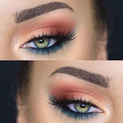 make-up summer look peach