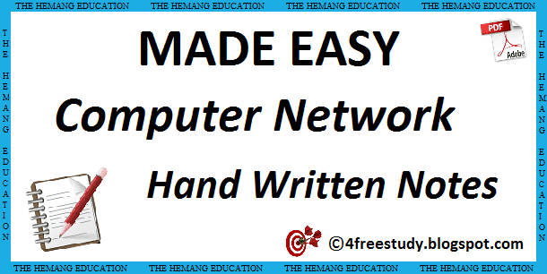 Made Easy Computer Network Hand Written Notes Computer Science