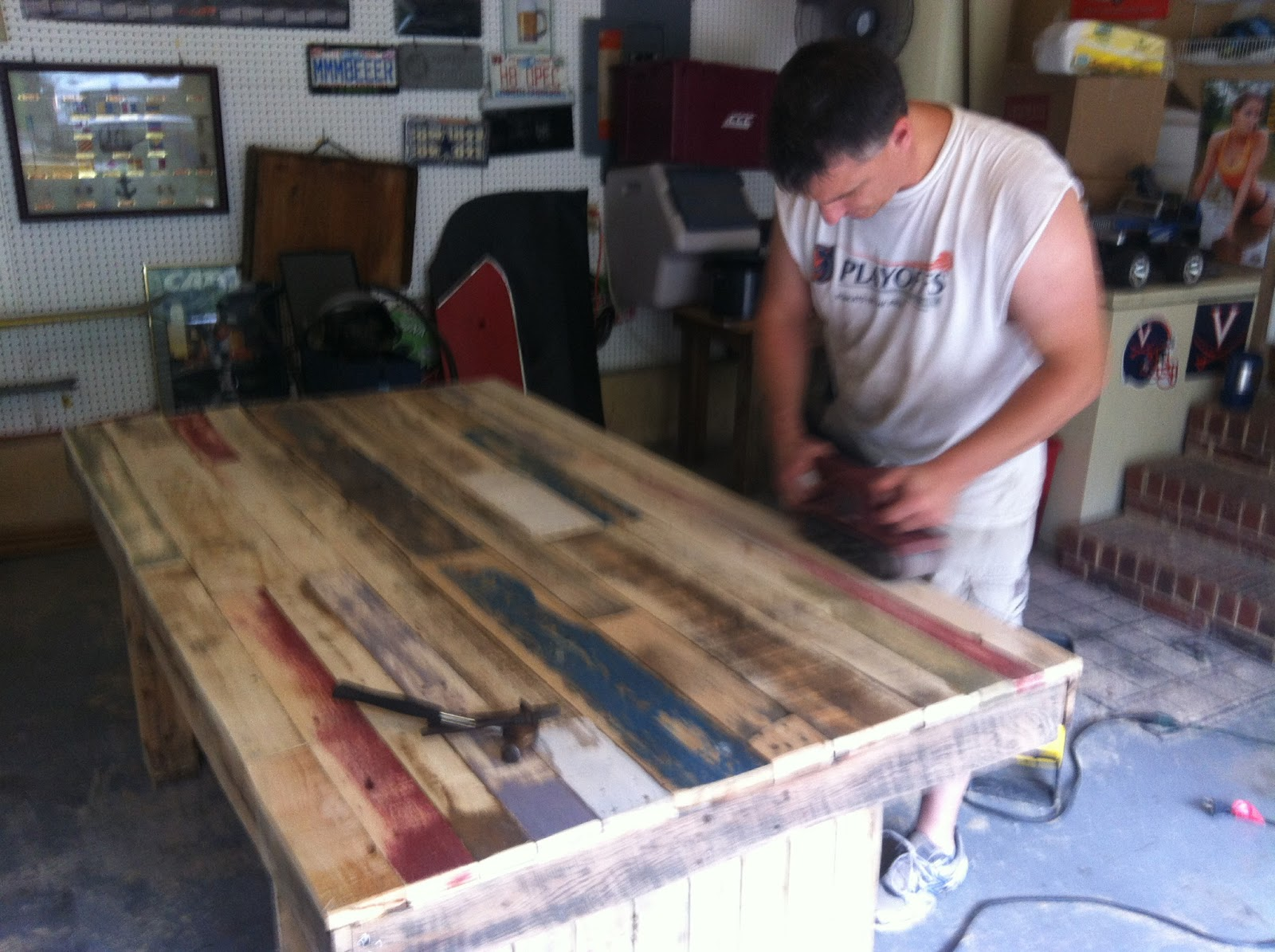 The Best Is Yet To Come We Built A Table From Old Wooden