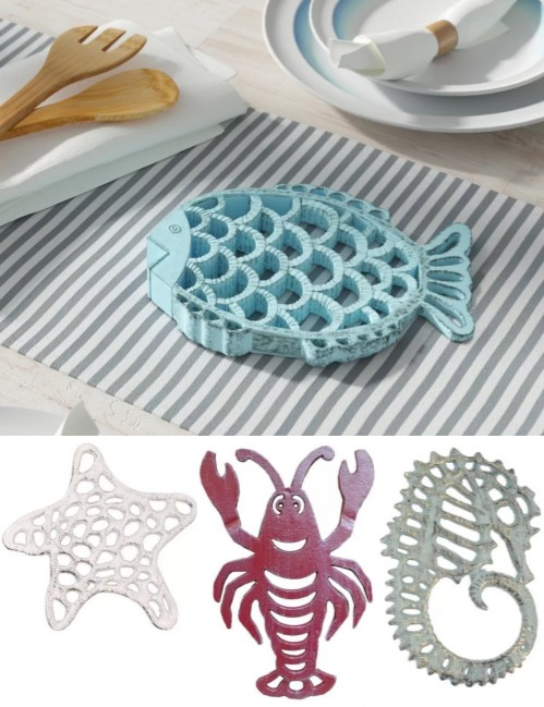 Coastal Nautical Iron Trivets