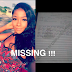 Lady who tattooed Davido's image on her chest goes missing