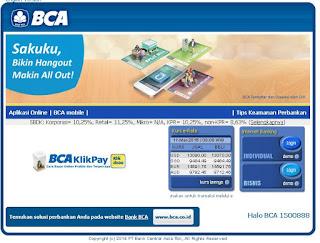 klikbca web