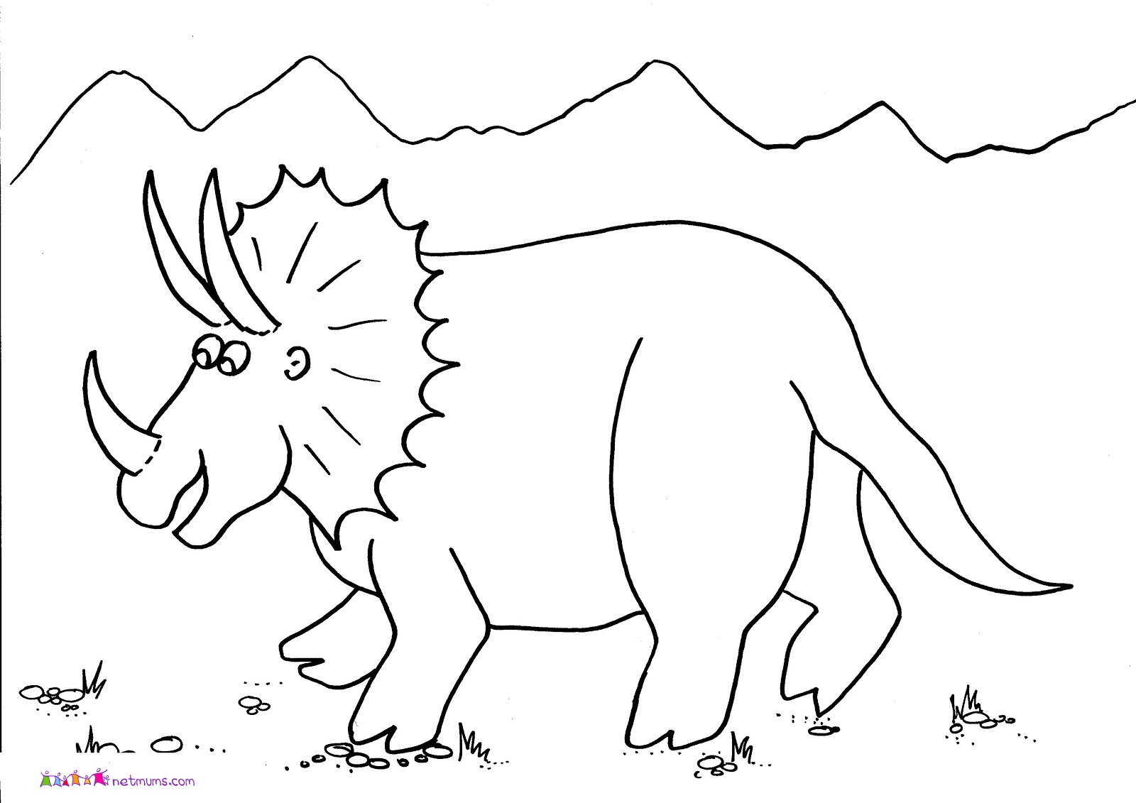 mewarnai gambar dinosaurus terbaru
