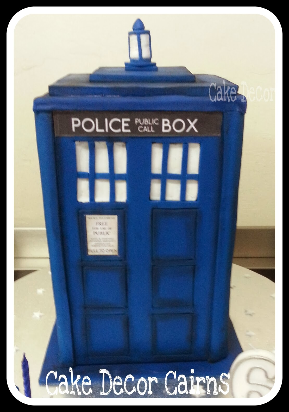Blue TARDIS Chocolate Cake for Doctor Who fan