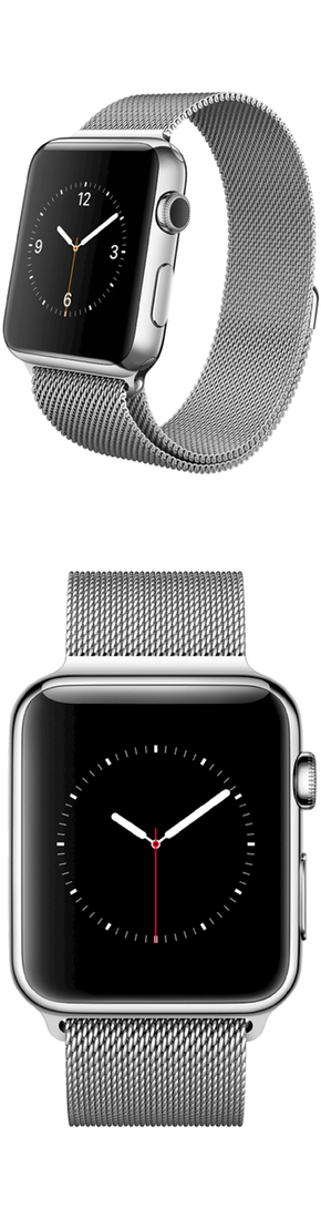 Apple® Apple® Watch 42mm Stainless Steel Case with Milanese Loop