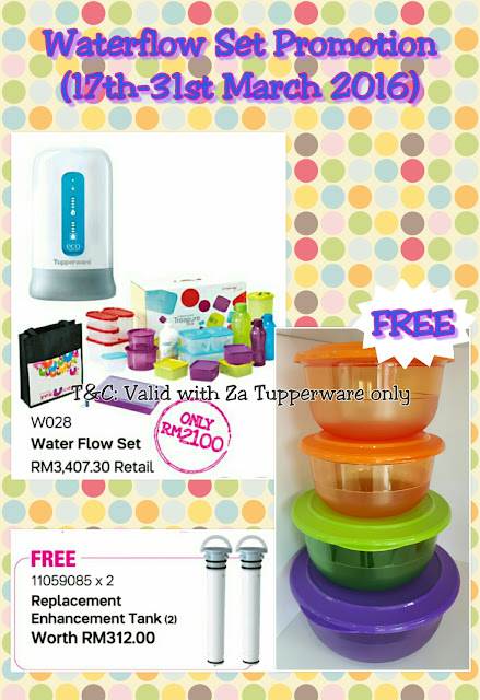 Tupperware Water Filter Promo