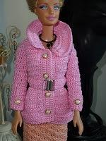 DIY - Casaco Clássico de Crochê Para Boneca Barbie  Passo a Passo