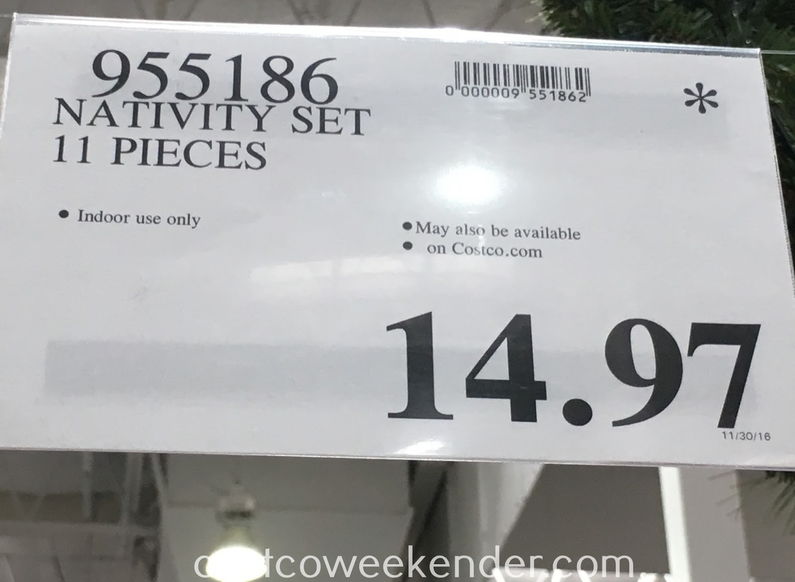 Deal for the 11 piece Nativity Set at Costco